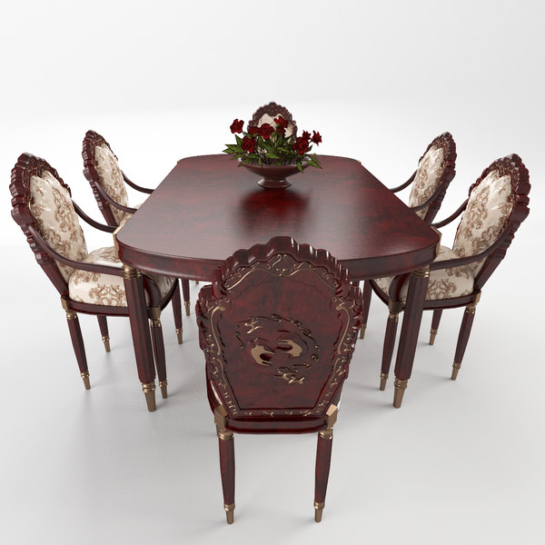 set table chairs model