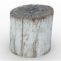 3D tree stump 10