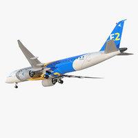 embraer e-jet e190-e2 jet 3D model
