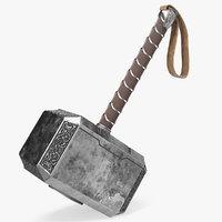 3D thor hammer mjolnir