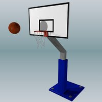 3D model basketball basket