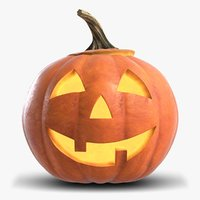 Jack-O-Lantern Pumpkin Head 1