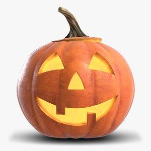 3D jack-o-lantern pumpkin head 1