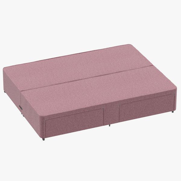 bed base 01 blush 3D model