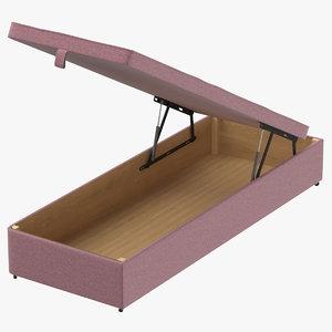 3D model bed base 02 blush