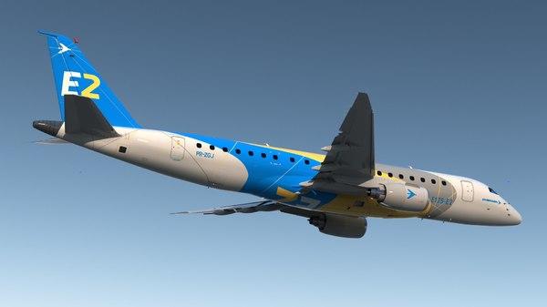エンブラエルE-ジェットE175-E23Dモデル - TurboSquid 1446637