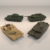Low Poly Tank Pack 01