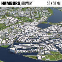 Hamburg Germany 50x50km