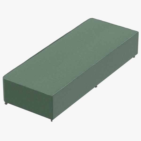 3D bed base 04 mint