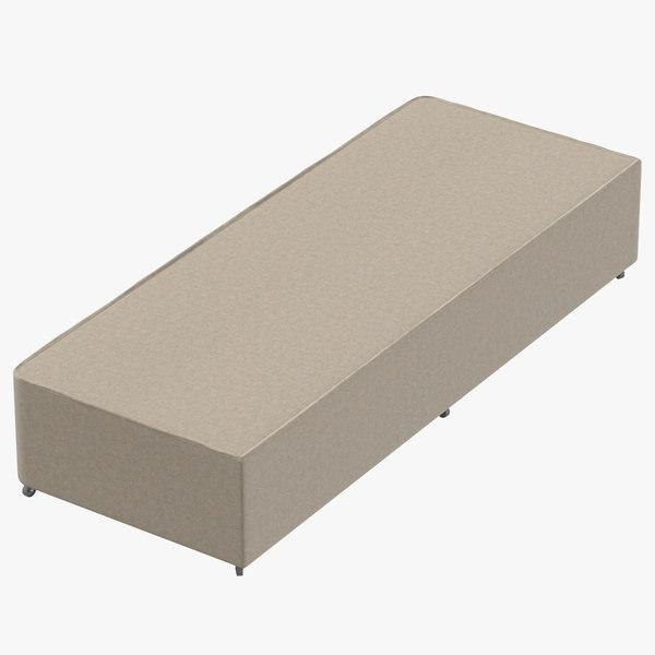 bed base 04 oatmeal model