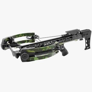 3D camo crossbow arrow model
