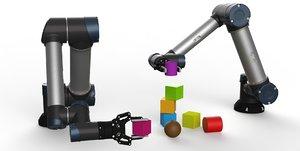 industrial robot arm robotiq 3D model