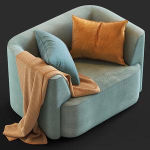 3D globewest juno boris armchair