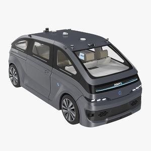 3D navya autonom cab rigged