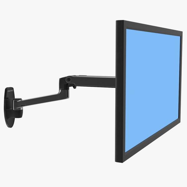 mount monitor arm ergotron 3D