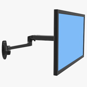mount monitor arm ergotron 3D