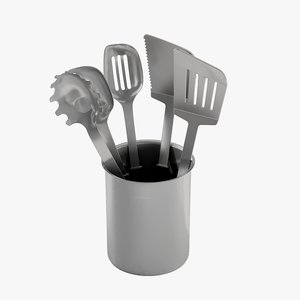 realistic utensils calphalon 3D model