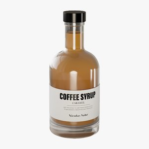 3D realistic coffee syrup caramel