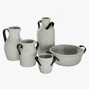 realistic vase marlowe 3D model