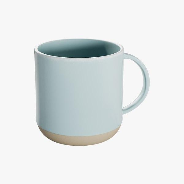 3D model realistic mug level light