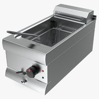 3D model inox electric fryer