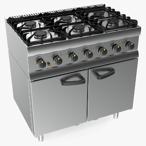 3D inox kitchen gas owen