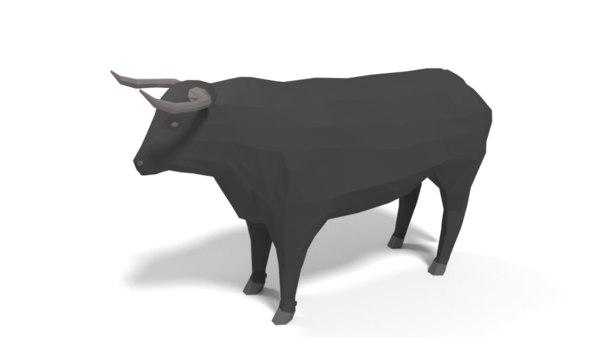 3D bull cartoon model
