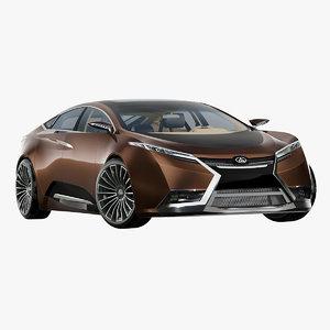 futuristic sedan 3D