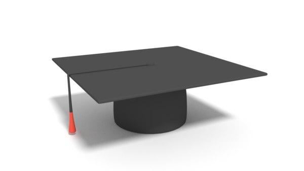 3D model graduation cartoon