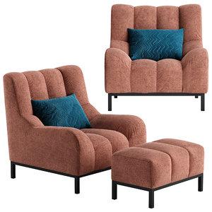 phileas armchair pouf 3D model