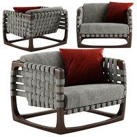 riva bungalow armchair 3D model