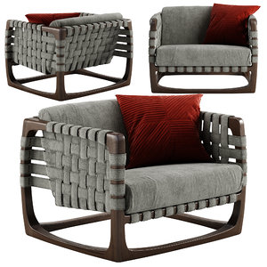 riva bungalow armchair 3D model