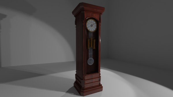 3D grand father clock