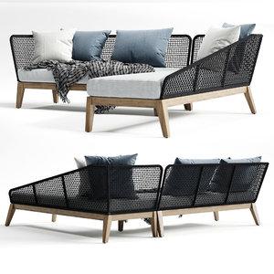 3D model modloft netta sofa