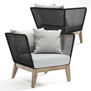 modloft netta chair 3D model