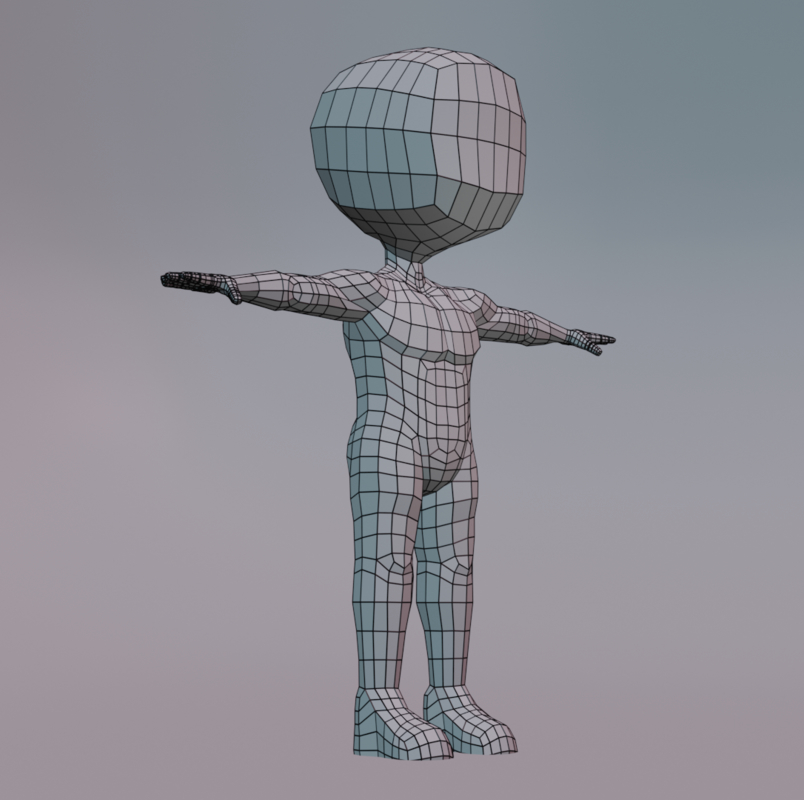 3D simple character