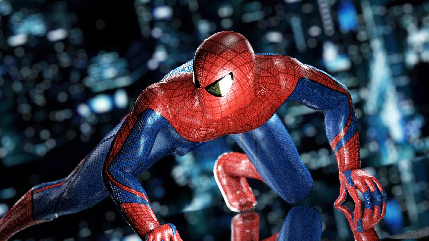 amazing spiderman rigged 3D model