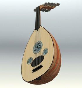 oud instrument 3D model