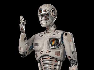 futuristic robot man 2 3D model