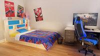 3D Kids Bedroom Low Poly