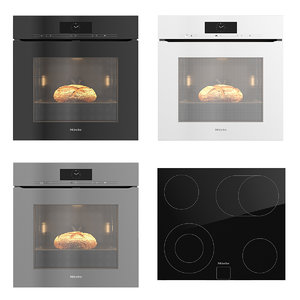 miele h7860bpx oven bread 3D model