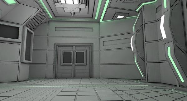 3D model sci fi room