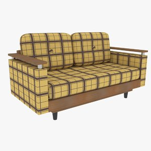 3D 70s loveseat s model