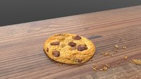 3D plate chocolate cookies table