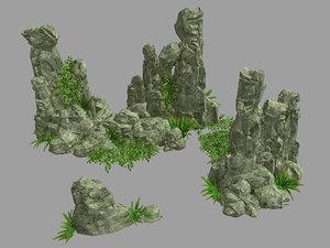 3D garden decoration - rockery