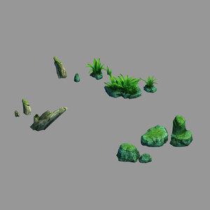 3D model yunmengze - stone plant