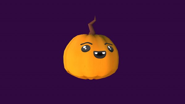 cartoon cute pumpkin illustration 3D model