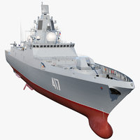 3D russian frigate admiral gorshkov