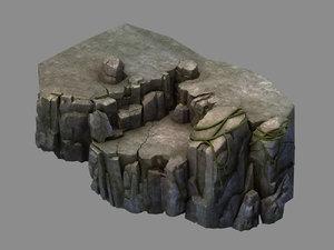 3D fallen land - shore