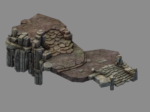 fallen land - stone road model